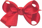 Small Solid Color Bow Red