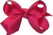 Small Solid Color Bow Shocking Pink
