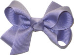 Small Solid Color Bow Tropic Lilac