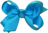 Small Solid Color Bow Turquoise