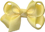 Small Solid Color Bow Wheat