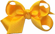 Small Solid Color Bow Yellow Gold