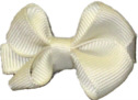 Infant Solid Color Bow Antique White