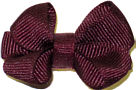 Infant Solid Color Bow Burgundy