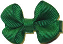 Infant Solid Color Bow Emerald