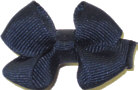 Infant Solid Color Bow Navy