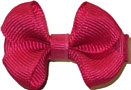 Infant Solid Color Bow Shocking Pink