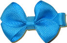 Infant Solid Color Bow Turquoise