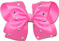 Large Hot Pink Jeweled Bow