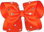 Large Orange Jeweled Bow