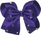 Large Regal Purple Jeweled Bow