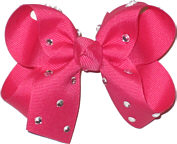 Medium French Pink Jeweled Bow
