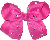 Medium Raspberry Rose Jeweled Bow