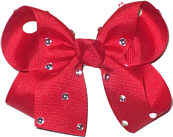Medium Red Jeweled Bow