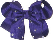 Medium Regal Purple Jeweled Bow