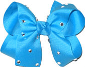 Medium Turquoise Jeweled Bow