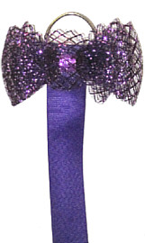 Fancy Purple Horsehair Bow with 40'' long ribbon strip (not shown)
