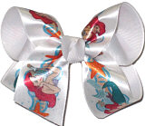 Medium Ariel over White Grosgrain