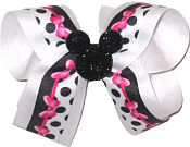 Medium Minnie Bow with Black Glitter Minnie Pin