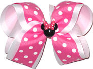 Large Overlay Bow with Minnie Pin