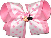 Large Bow with Minnie Pin