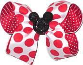 Medium Bow with Glitter Mouse Pin