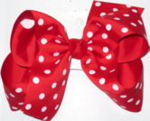 Large Red with White Polka Dots Polka Dot Bow