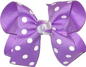Medium Orchid with White Dots Polka Dot Bow