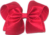 Large Red Dupioni Silk Ribbon Starched to Hold Its Shape Double Layer Overlay Bow