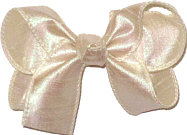 Medium Iridescent Ivory Dupioni Silk Bow