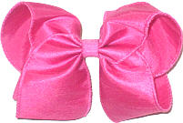 Large Shocking Pink Dupioni Silk Ribbon Starched to Hold Its Shape Bow