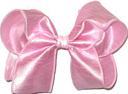 Large Iridescent Pink Dupioni Silk Bow