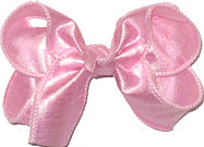 Medium Iridescent Pink Dupioni Silk Bow