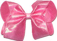 Large Iridescent Hot Pink Dupioni Silk Bow