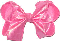 Medium Iridescent Hot Pink Dupioni Silk Bow