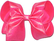 Large Iridescent Neon Shocking Pink Dupioni Silk Bow