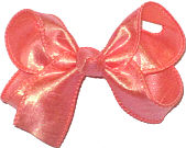 Medium Iridescent Peach Dupioni Silk Bow