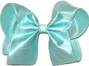 Large Iridescent Aqua Dupioni Silk Bow