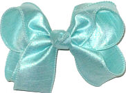 Medium Iridescent Aqua Dupioni Silk Bow