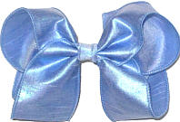 Large Iridescent Blue Dupioni Silk Bow