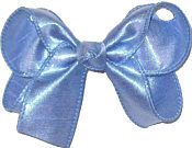 Medium Iridescent Blue Dupioni Silk Bow