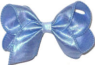 Toddler Iridescent Blue Dupioni Silk Bow