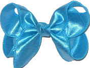 Medium Iridescent Turquoise Dupioni Silk Bow