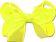 Medium Iridescent Neon Yellow Dupioni Bow