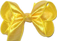 Medium Iridescent Yellow Dupioni Silk Bow