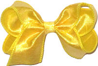 Toddler Iridescent Yellow Dupioni Silk Bow