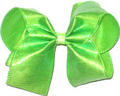 Large Iridescent Neon Green Dupioni Silk Bow