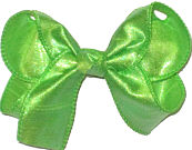 Medium Iridescent Neon Green Dupioni Silk Bow