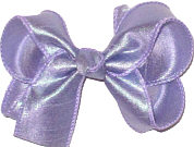 Medium Iridescent Orchid Dupioni Silk Bow