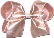 Large Iridescent Rose Gold Dupioni Silk Bow